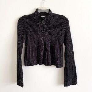 White House Black Market Cropped Sweater Black XS